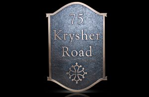 Custom & Personalized Bronze Address Plaque Krysher Road