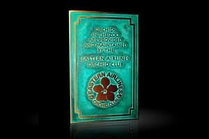 Cast Bronze Garden & Bench Plaque Eastern Airlines Orchid Club