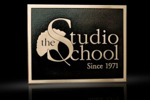 Cast Bronze & Cast Aluminum Identification Plaque The Studio School
