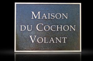 Custom Cast Bronze Memorial Plaque and Lawn Marker Volant
