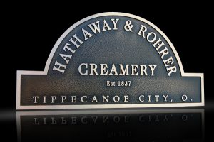 Cast Bronze & Cast Aluminum Identification Plaque Hathaway & Rohrer
