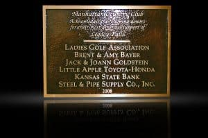 Personalized Cast Bronze Wall Plaque Manhattan Country Club
