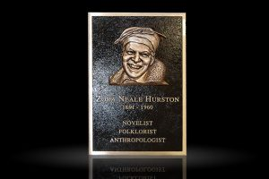 Cast Bronze Sculpted Portrait Plaque Zora Hurston