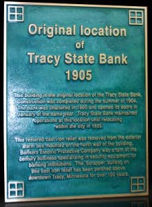 Personalized Cast Bronze Wall Plaque Tracy State Bank