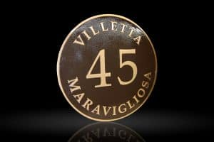 Custom & Personalized Bronze Address Plaque Villetta