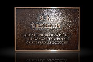 Custom Cast Bronze Memorial Plaque and Lawn Marker Chesterton