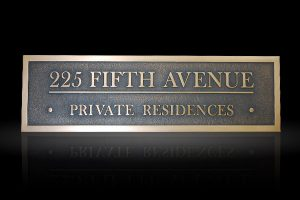 Custom & Personalized Bronze Address Plaque Fifth Avenue