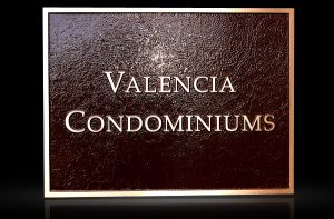 Cast Bronze & Cast Aluminum Identification Plaque Valencia