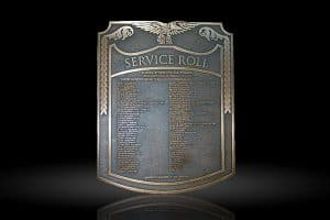 Personalized Cast Bronze Wall Plaque Service Roll