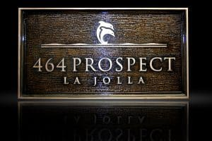Custom & Personalized Bronze Address Plaque La Jolla