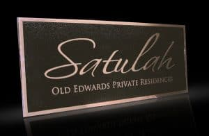Cast Bronze & Cast Aluminum Identification Plaque Satulah