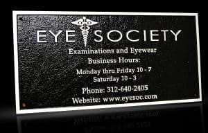 Cast Bronze & Cast Aluminum Identification Plaque Eye Society