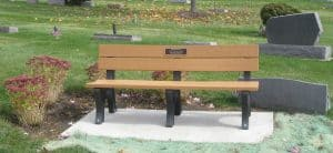 Cast Bronze Garden & Bench Plaque Veterans Memorial