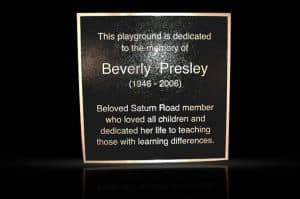 Architectural Solid Cast Aluminum Plaque Presley