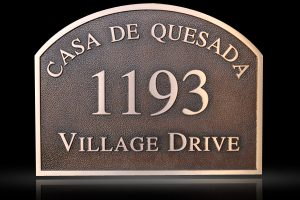 Custom & Personalized Bronze Address Plaque Casa de Quesada