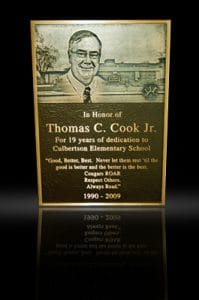 Embossed Cast Bronze Portrait Plaque Thomas C Cook Jr