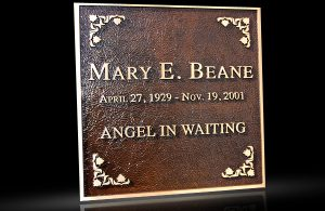 Custom Cast Bronze Memorial Plaque and Lawn Marker Beane