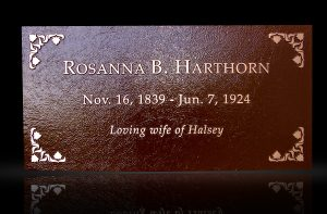 Custom Cast Bronze Memorial Plaque and Lawn Marker Hawthorne