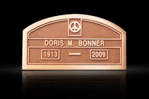 Custom Cast Bronze Memorial Plaque and Lawn Marker Bonner