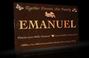 Custom Cast Bronze Memorial Plaque and Lawn Marker Emanuel