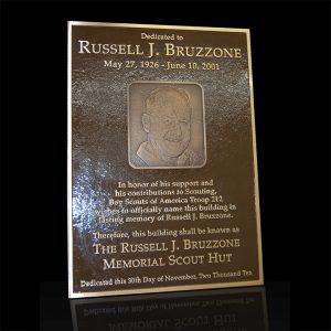 Embossed Cast Bronze Portrait Plaque Russell Bruzzone