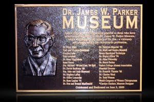 Cast Bronze Sculpted Portrait Plaque James W Parker Museum