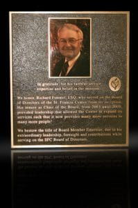 Cast Bronze Portrait Plaques with Metal Photo Fimmel