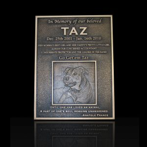 Taz Embossed Cast Bronze Portrait Plaque