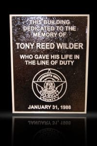 Personalized Cast Bronze Wall Plaque Wilder