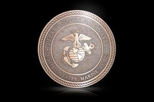 Cast Bronze Military Seal US Marines